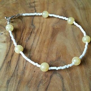 Jewelry - NWOT Honey and white bracelet